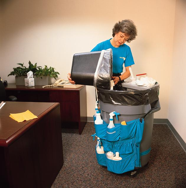 Emptying office waste