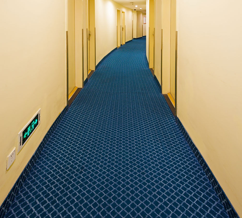 installed commercial carpet